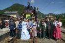 Kaiserzug Ankunft  Begrüßungsfoto vor der Dampflok