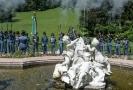 Salut vor der Kaiservilla - Die Kaiserjägerschützen Kuchl