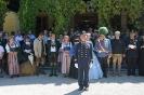Salut vor der Kaiservilla  kkStb Zentralinspektor Obmann Karl Reitter erteilt den Tagesbefehl